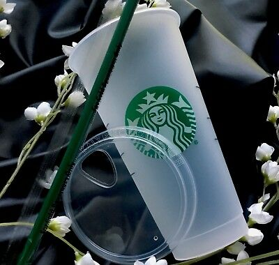 NEW Starbucks Reusable Cup - with NEW COLD FOAM LID & Straw 2018 - SIPPY - Venti