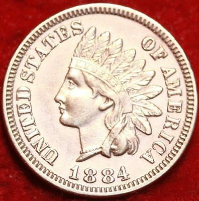 Uncirculated 1884  Red Philadelphia Mint  Indian Head Cent