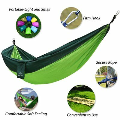 Portable Camping Hammock Lightweight Comfortable For Outdoor Hiking Travel Beach