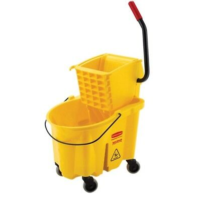 26 Qt. WaveBrake Mop Bucket and Side-Press Wringer Combo, w/ Ergonomic handle