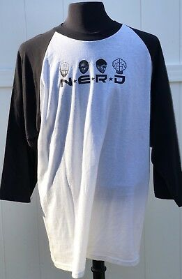 Vintage 2001 N.E.R.D In search of t-shirt PHARRELL the neptunes Baseball TEE