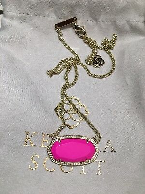 Kendra Scott Dylan Necklace In Magenta Pink