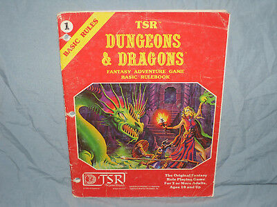 The Original Dungeons & Dragons 1st Ed -  BASIC RULEBOOK  (1981 First Printing!)