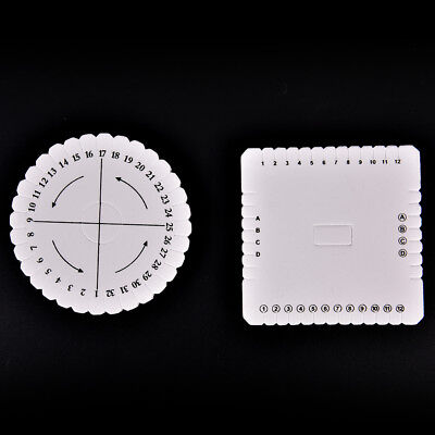 Round Square Beading Cord Disc/Disk Braiding Plate DIY Braided WO