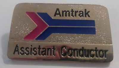 Item Vintage Authentic Amtrak railroad RR Assistant Conductor Badge Train