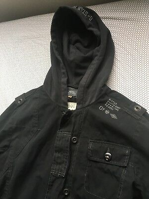 G-Star Raw Rare Ghost Sniper Black Hooded Military Jacket Mens M $299