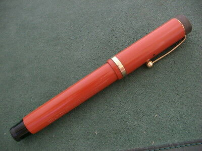 "Parker Senior Red Duofold Jumbo 5-1/2"" Inches Long. Excellent Condition."