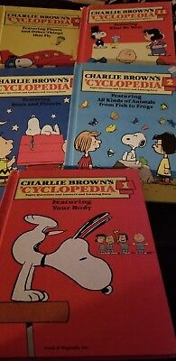 5 Charlie Brown's Cyclopedia  Books Children's Charles  Schultz 1980 1,2,6,8,11