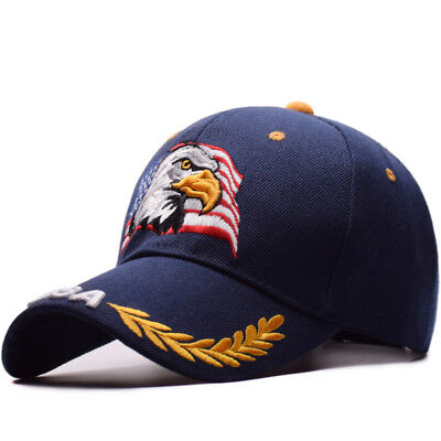 Baseball Cap For Men Women Outdoor Sun Hat Eagle Embroidery USA Sports Hats e602c71eb126