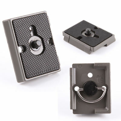 Black QR Quick Release Plate Mount Base For Manfrotto Camera Tripod 200PL-14 496