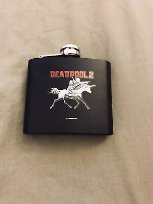 """Brand New  """"Deadpool 2"""" 5 Oz Stainless Steel Flask by Espolon tequila"""