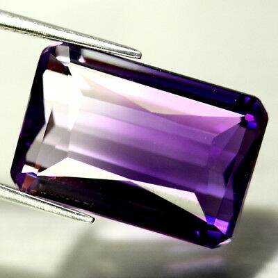 21.84 CT AAA! PURPLE & WHITE BOLIVIA AMETRINE OCTAGON 13 X 20 mm.