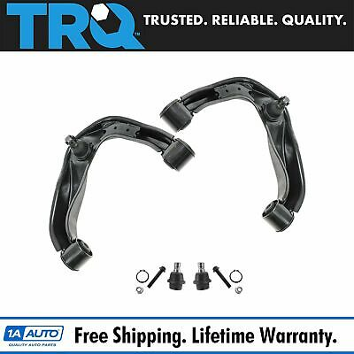 TRQ 4 Piece Suspension Kit Upper Control Arms Lower Ball Joints for Nissan New