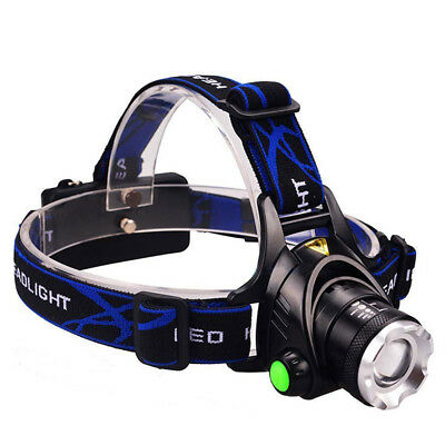 2018 Zoomable LED Headlamp 35000LM CREE XML T6 Head Torch Rechargeable Headlight