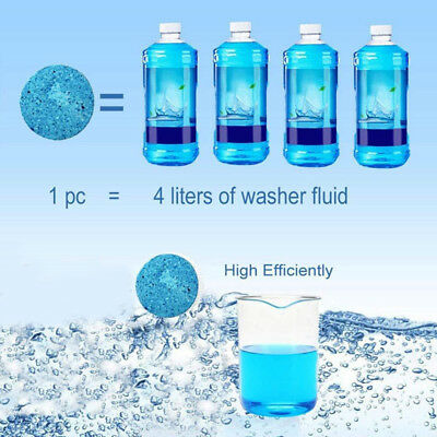 Concentrated Solid Car Wiper Glass Water  Effervescent Spray Cleaner 6 PSC