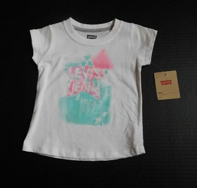 NWT Girls Levi's Jeans White Colorful Stars Shirt sz 24 Months