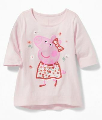 NWT Girls Old Navy Peppa Pig Pale Pink Tunic Top sz 4t