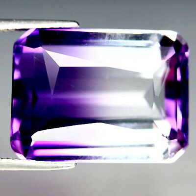 19.12 Ct Aaa Purple & White Bolivia Ametrine Octagon