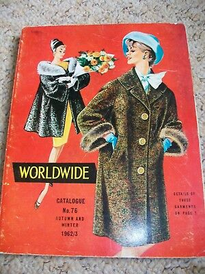 vintage UK mail order catalogue home shopping Worldwide 1962 - 63