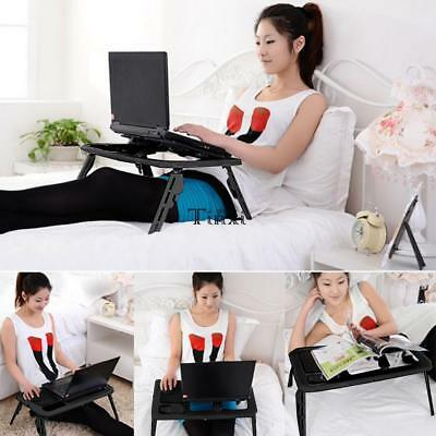 Portable Folding Laptop Table Lap Desk Bed Sofa Computer Food Tray Stand