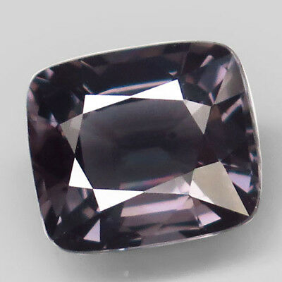 3.09ct.Sparkling Gem! 100%Natural Silver Purple Spinel Unheated 9x8mm.AAA Nr!