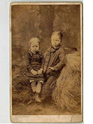 1880s Dubbo NSW CDV, two young boys, ID Bolland, Hutchison + Spliet, Australian