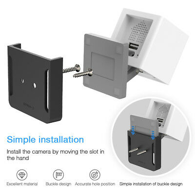 Wall Mount Bracket Base Holder Stand Mounting for Wyze Cam, iSmart Camera TH878