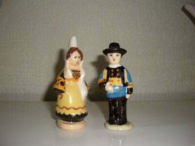 ravissant couple de bretons costume traditionnel de quimper  cration Kéraluc11cm