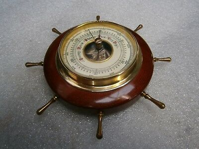 Antique Small Ships Wheel Barometer. West German.