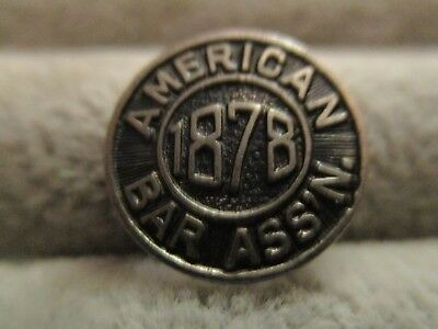 Antique  American Bar Association Pin Sterling