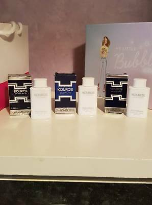 "Lot 3 Miniatures parfum YVES SAINT LAURENT "" Kouros "" eau de toilette 10 ml"