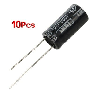 10 x 25V 1000UF 105C Radial Electrolytic Capacitor 10x20mm T9E7