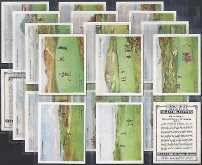 Wills-Full Set- Golfing Golf (L25 Cards) - All Scanned