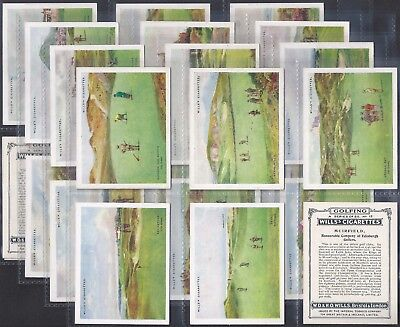 Wills-Full Set- Golfing Golf (L25 Cards) - Exc (All Scanned)