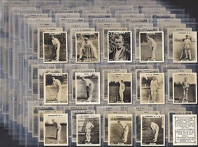 Pinnace-Part Set 181/198- Pinnace Cricket (Kf198 Includes Error Cards 84 & 176)