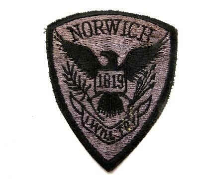 Norwich University Vermont Police Embroidered Patch 3.5""