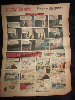 Chicago Sunday Tribune-2-28-1943-Chester Gould Dick Tracy-Sunday Comic Section