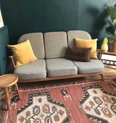 Ercol Blonde Windsor Sofa, 3 Seater, Mid Century