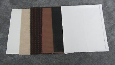 Antique Radio Fabric Grille Speaker Cloth Mixed Lot 6 Pieces Various Colors