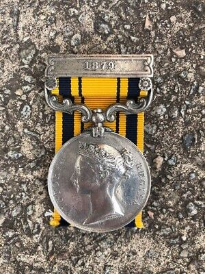 Original 19th century Victorian Zulu War medal - 1st Dragoon Guards - 1879