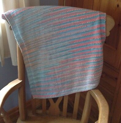 Hand Knitted  Baby Blanket For Baby Girl. Modern And Sooooo Soft
