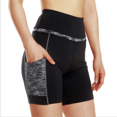 Women Summer Sports Short Pants Gym Workout Waistband Skinny Fitness Yoga Shorts