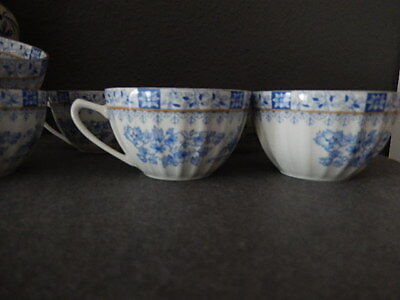 6 Tassen China Blau
