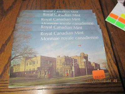 Pickers Delight Lot of 5/Five Canada 1974 6 Coin Uncirculated Mint Sets. #TF-815