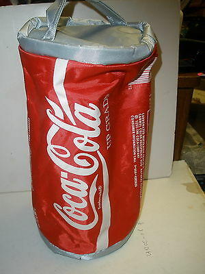 """NEW Coca-cola Coke soft cooler great for keeping cans cold 11"""" tall x 6"""" across"""