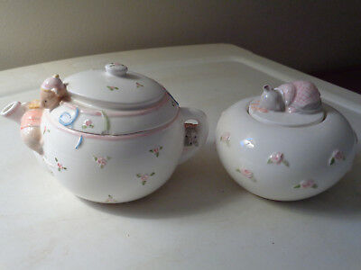 Mouse Sugar Bowl & Mice Creamer byTerragraphis and Charpente  Vtg. 1975