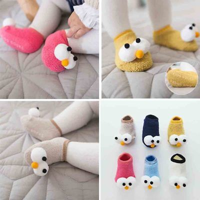 Cute Baby Boy Girls Toddler Anti-Slip Grip Socks Floor Sock Shoes Slipper Kids