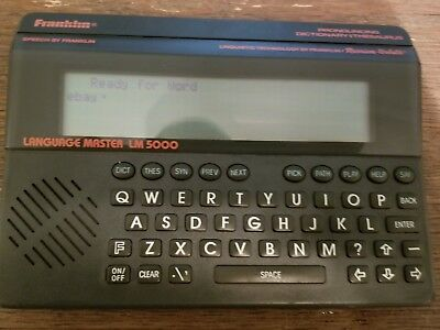 Franklin Electronic Dictionary Language Master LM-5000 works great (k)