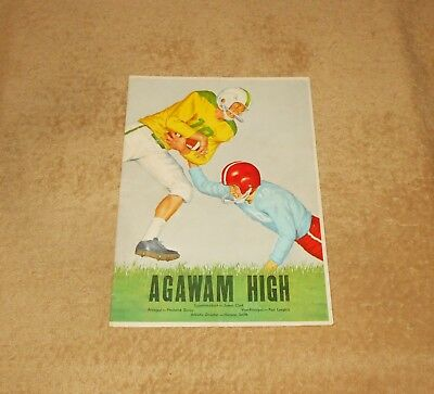 Vintage Early 60's Agawam High School Football Roster    Old Pepsi Advertisement