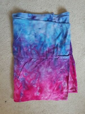 Professionally Dyed Baby Woven Wrap 100% Cotton Size 4 (firespiral cirrus)